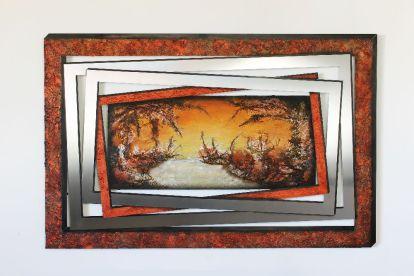 See in Kupfer 130 cm x 90 cm