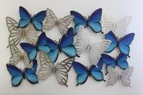 Blaue Schmetterlinge 110 x 75 cm